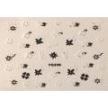 3D стикер цветя черно бели лепящ YG236