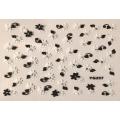 3D стикер цветя черно бели лепящ YG237
