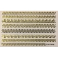 3D стикер дантела златна лепящ YGYY678