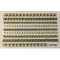 3D стикер дантела златна лепящ YGYY694