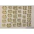 3D стикер животни валентин златни лепящ YGYY187