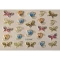 3D стикер пеперуди златни цветни лепящ YGYY203