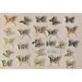 3D стикер пеперуди златни цветни лепящ YGYY206