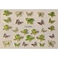 3D стикер пеперуди златни цветни лепящ YGYY216