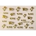 3D стикер свети валентин златни лепящ YGYY171