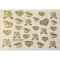 3D стикер свети валентин златни лепящ YGYY177