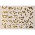 3D стикер свети валентин златни лепящ YGYY185