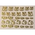 3D стикер свети валентин златни лепящ YGYY186