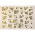 3D стикер свети валентин златни лепящ YGYY192