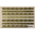 3D стикер дантела златна лепящ YGYY677