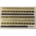 3D стикер дантела златна лепящ YGYY691