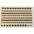 3D стикер дантела златна лепящ YGYY695