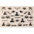 3D стикер детски сребърни черни лепящ YGYY486