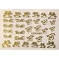 3D стикер животни златни лепящ YGYY180