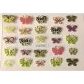 3D стикер пеперуди златни цветни лепящ YGYY193