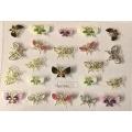 3D стикер пеперуди златни цветни лепящ YGYY194