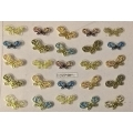 3D стикер пеперуди златни цветни лепящ YGYY196