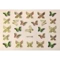 3D стикер пеперуди златни цветни лепящ YGYY199