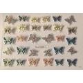 3D стикер пеперуди златни цветни лепящ YGYY200