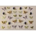 3D стикер пеперуди златни цветни лепящ YGYY201