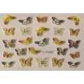 3D стикер пеперуди златни цветни лепящ YGYY202
