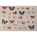 3D стикер пеперуди златни цветни лепящ YGYY204