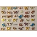3D стикер пеперуди златни цветни лепящ YGYY205