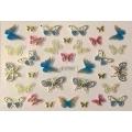 3D стикер пеперуди златни цветни лепящ YGYY207