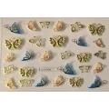 3D стикер пеперуди златни цветни лепящ YGYY208