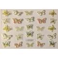 3D стикер пеперуди златни цветни лепящ YGYY209