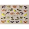 3D стикер пеперуди златни цветни лепящ YGYY211