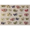 3D стикер пеперуди златни цветни лепящ YGYY213