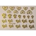 3D стикер свети валентин златни лепящ YGYY172