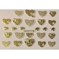 3D стикер свети валентин златни лепящ YGYY175