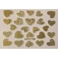 3D стикер свети валентин златни лепящ YGYY176