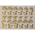 3D стикер свети валентин златни лепящ YGYY178