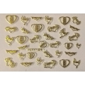 3D стикер свети валентин златни лепящ YGYY181