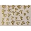 3D стикер свети валентин златни лепящ YGYY188