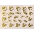 3D стикер свети валентин златни лепящ YGYY191