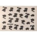 3D стикер цветя сребърни черни лепящ YGYY490