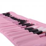 VANDER професионални четки за грим в кожен калъф - розови - 24 броя