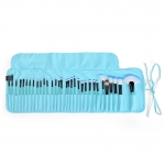VANDER професионални четки за грим в кожен калъф - сини - 32 четки